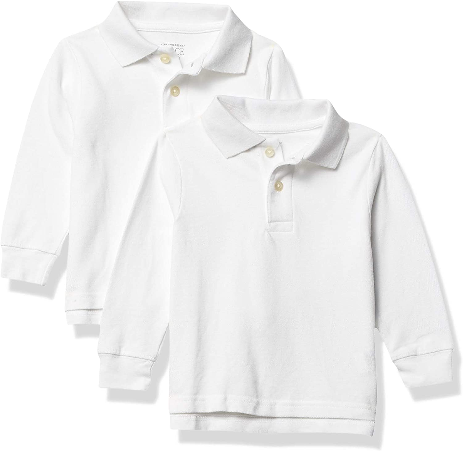The Childrens Place Boys Baby and Toddler Uniform Long Sleeve Pique Polo 2-Pack