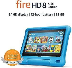 "Fire HD 8 Kids Edition tablet, 8"" HD display, 32 GB, Blue Kid-Proof Case"