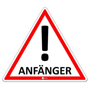 iSecur Fahrzeug-Aufkleber Anf/änger I 12,6 x 11 cm I Vorsicht Achtung Fahranf/änger I f/ür Kfz Auto LKW I wetterfest I hin/_289