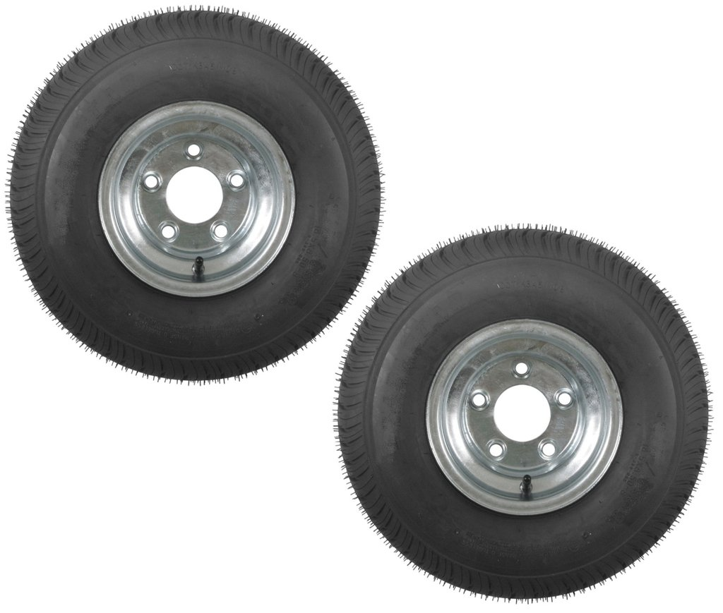 2-Pack Trailer Tires On Galvanized Rims 18.5x8.5-8 18.5 x 8.5-8 Load C 5 Lug by eCustomRim (Image #3)