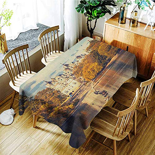 XXANS Waterproof Table Cover,London,Picturesque ST James Park in UK Baroque Architecture Heritage Medieval Landscape,Dinner Picnic Table Cloth Home Decoration,W60X102L Multicolor
