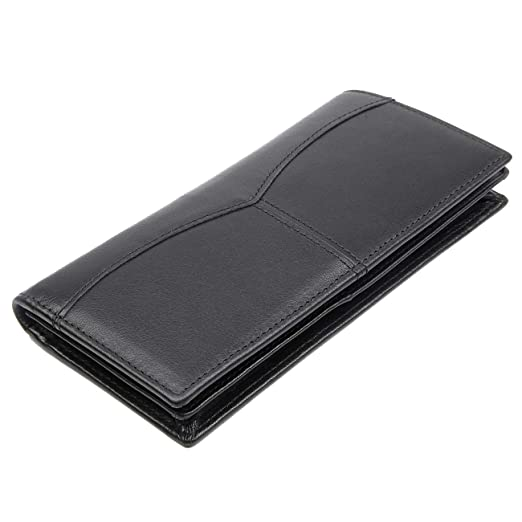 a95f29a343a8 Texbo RFID Blocking Full Grain Leather Vintage Bifold Long ID Cash Card  Wallet Holder For Checkbook,Credit Cards