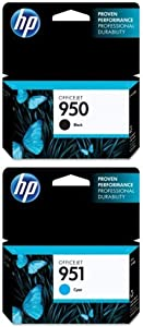 HP 950 Black Original Ink Cartridge (CN049AN) and HP 951 Cyan Original Ink Cartridge (CN050AN) Bundle