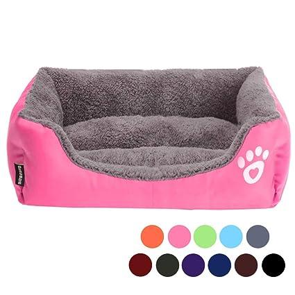 Cama y cojines URIJK para mascotas, perro, gato, alfombrilla impermeable, colorido,