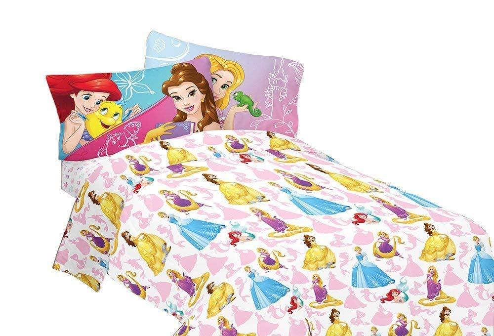 Disney Bedazzling Princess Kids Twin Sheet Set 3 Piece
