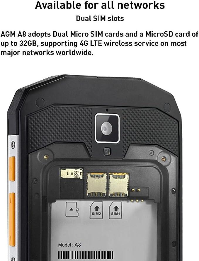 AGM A8 SE,IP68 Smartphone 5.0 2GB RAM + 16GB ROM: Amazon.es ...