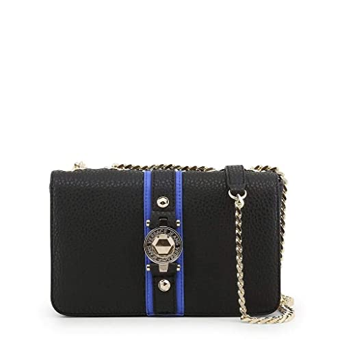 55d97bd91a9 Image Unavailable. Image not available for. Color: Versace EE1VSBBF8 EMAG  899+202 Black/Blue Shoulder Bag ...