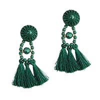 Leisial Boucles d'oreilles Pompon Bijoux Féminins Bijoux en Alliage Cadeau de Vacances Boucles d'oreilles Perle Boucles d'oreilles Fille pour Cadeau de la Saint-Valentin