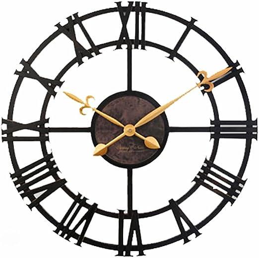 FPigSHS Reloj de Pared Metal silencioso Viento Industrial Hierro ...