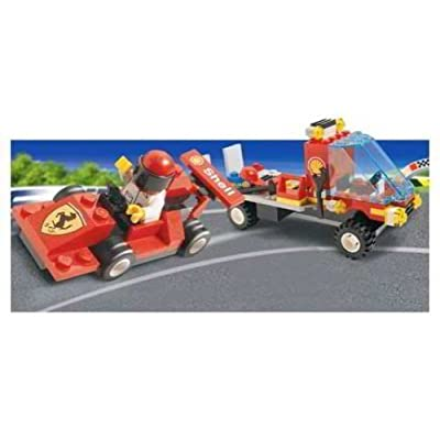 LEGO System Set #1253 Shell Car Transporter with Ferrari Race Car: Toys & Games