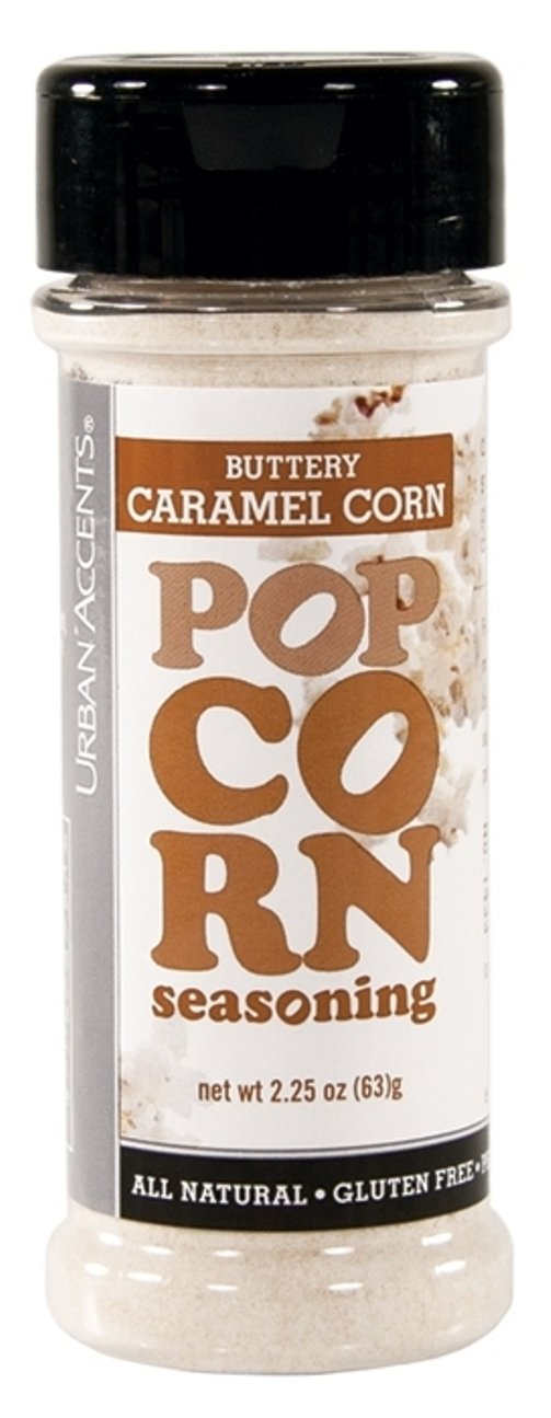 Urban Accents All Natural Gluten Free Premium Buttery Caramel Corn Popcorn Seasoning (Pack of 3), 2.25 Oz. Ea.