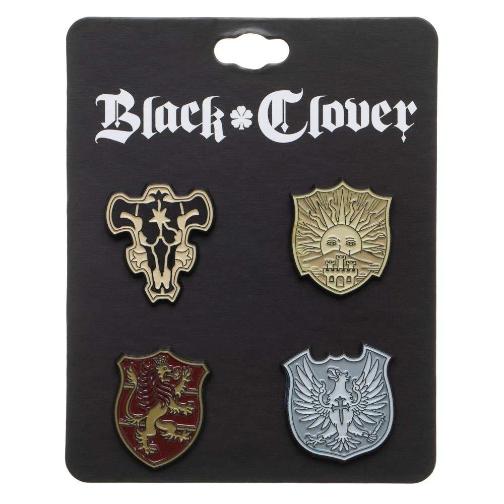 Amazon.com: Juego de insignias de solapa de trébol negro ...