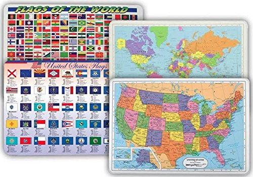 World Map Placemats Flags States product image