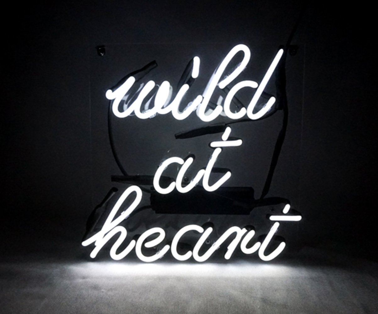 New Neon Sign Heart 'Wild At Heart' Cool Led Lamp Light 10.2'' x 10.2'' For Home Bedroom Beer bar Pub Hotel Beach Recreational Game Room