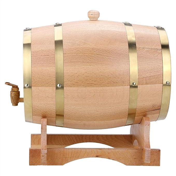 Compra GOTOTOP Barril de Vino Vendimia de Madera Roble Dispensador para Cerveza Whisky Ron Bourbon Tequila Barril de Puerto (10L) en Amazon.es