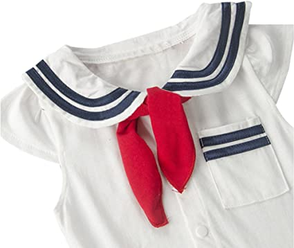 Tbjrk09-9 Short Sleeve Cotton Bodysuit for Unisex Baby Cute Sailing Yachts Crawler