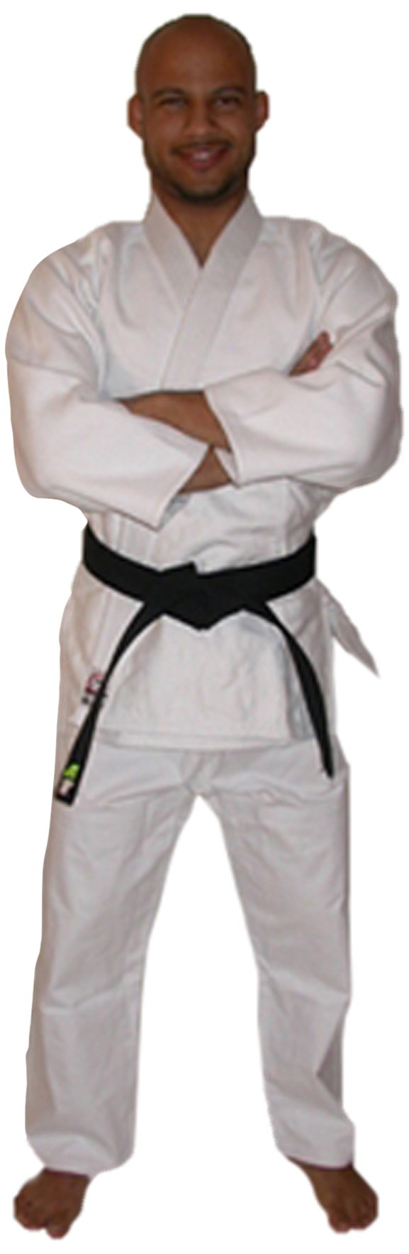 Fuji Advanced Brushed karate Uniform, White, 4 by Fuji