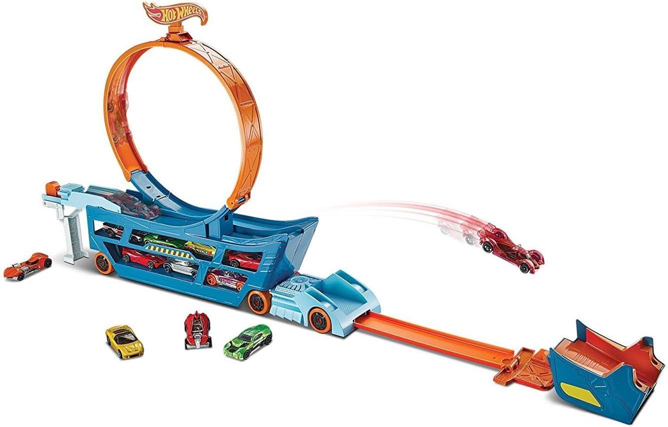 Hot Wheels Camión superacrobacias, pista de coches transformable (Mattel DWN56): Amazon.es: Juguetes y juegos
