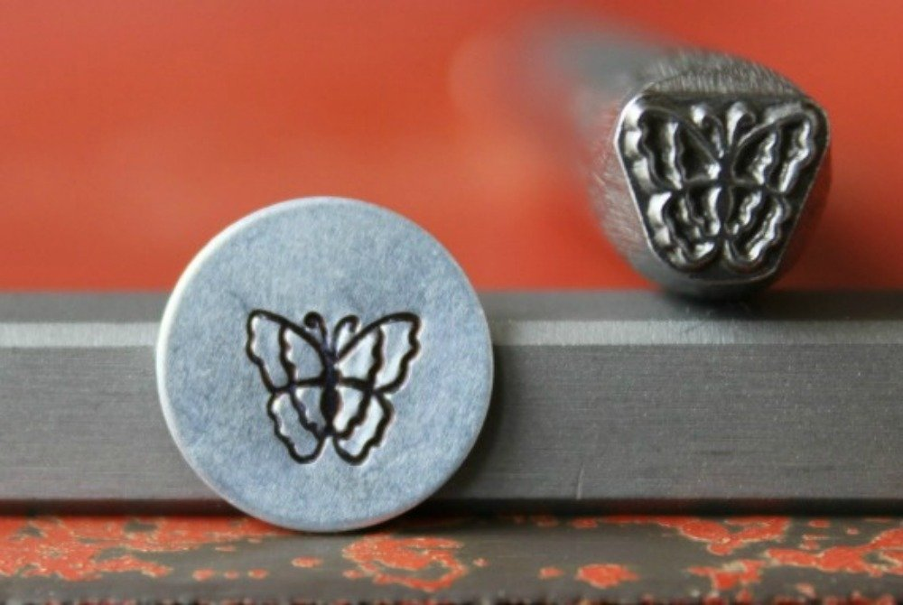 Supply Guy 7mm Butterfly Metal Punch Design Stamp 375-62 SG375-62