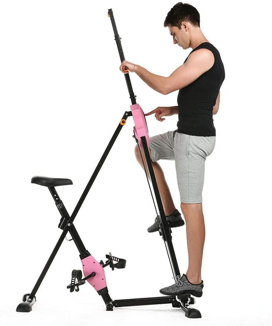 Home Cardio Workout Training Full Body Fitness Stepper for Whole Body Trainer Climber ANCHEER 2 in 1 Vertical Step Fitness Machines Gym Portable Foldable Climber Bike