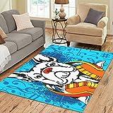 InterestPrint Gogogosky Custom French Bulldog Area Rug Floor Rug Room Carpet 7'x5'