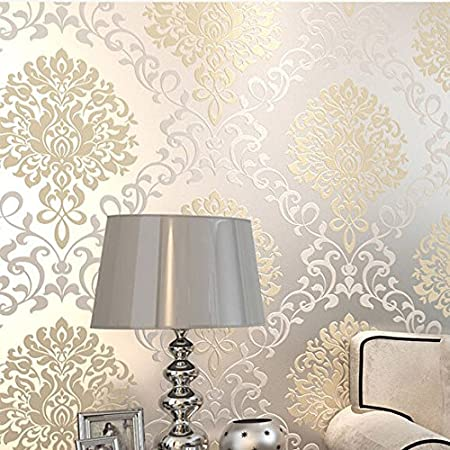 europe damask classical designs glitter wallpaper for wall ...