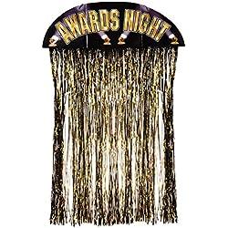 Beistle 50119 Awards Night Door Curtain, 4-Feet 6-Inch by 3-Feet