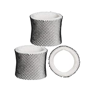 SaferCCTV 3pcs Replace Humidifier Wick Filters for Holmes HWF64 HWF-64 Sunbeam and Bionaire Humidifiers Requiring Filter B