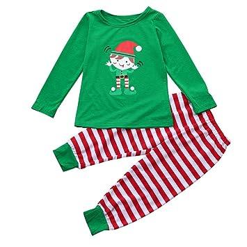 coohole Navidad familia padres niños bebé pijama pijamas ropa de dormir Pelele trajes de dos piezas