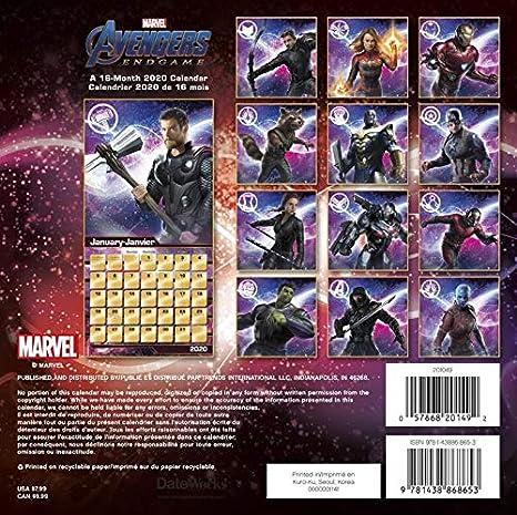 Amazon.com: Calendario de los Vengadores 2020 – Deluxe 2020 ...