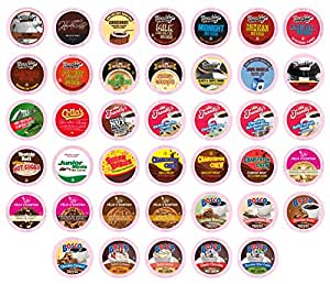 Two Rivers Chocoholic Single-Cup Sampler Pack for Keurig K-Cup Brewers, 40 Count