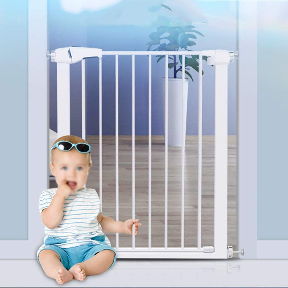 75-82cm Baby Gates Extra Wide White Walk Through Baby Gates, Extra Tall Dog Gates for Doorway & Stairs, Foldable Pet Gate for Dogs, 75-172 Wide (Size   75-82cm)