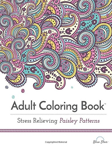 Adult Coloring Book Stress Relieving Paisley Patterns