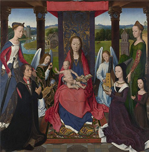Perfect Effect Canvas ,the High Definition Art Decorative Canvas Prints Of Oil Painting 'Hans Memling The Donne Triptych (1) ', 8 X 8 Inch / 20 X 21 Cm Is (Euro Costumes Discount Code)