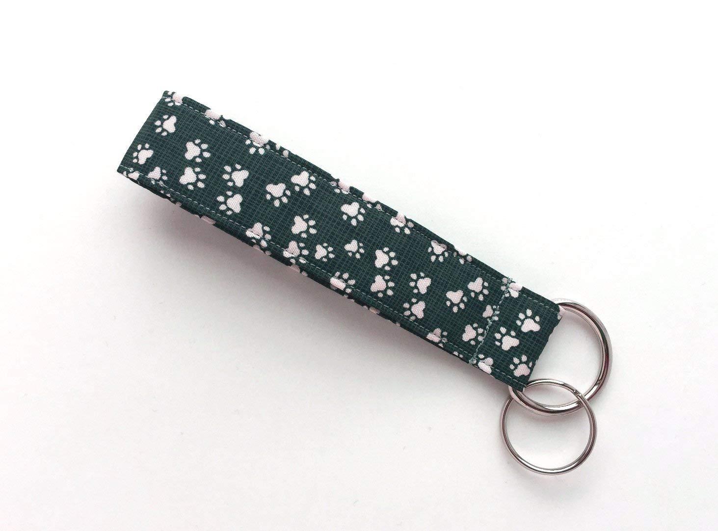 Wristlet Lanyard Wriststrap Cow Print Handmade Key Fob Strap ~ Keychain