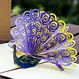 Paper Spiritz Vintage seal purple peacock Pop Up Card, 3D Card, Birthday Card, Pop Up Christmas Card, Anniversary Card, Thanksgiving Greeting Card, Animal Card, Bird Card, Sympathy Card