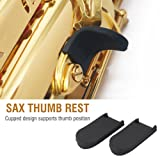 2Pcs Saxophone Thumb Rest Rubber Cushion Sax