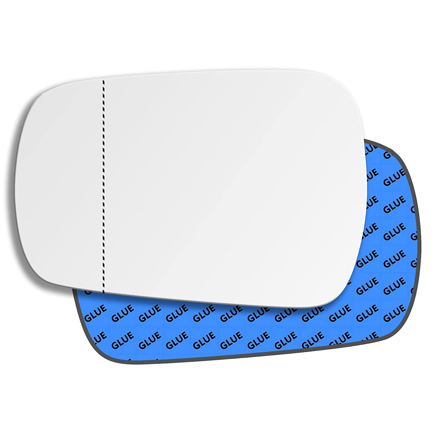 Left Passenger Near Side Convex Wing Door Mirror Glass for FORD FUSION 2002-2005