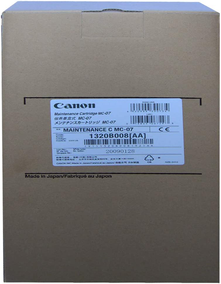 Canon 1320B008 - Cartucho de mantenimiento, color Negro: Canon ...