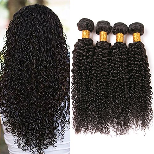 Brazilian Kinkys Curly 4 Bundles 8a Unprocessed Virgin Human Hair Weave 14 16 18 20 Inches Tight Jerry Curl Brazilian Hair Weaving Natural Brown Next Day Delivery