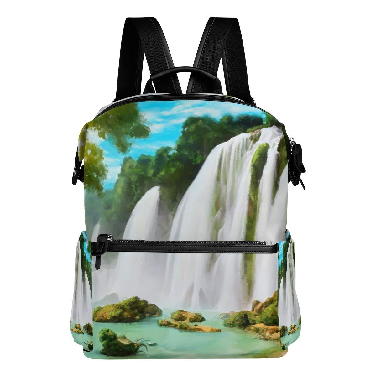 89d7fa804d FAJRO FAJRO FAJRO Zaino da viaggio con cascata di montagna e pittura 01bd58