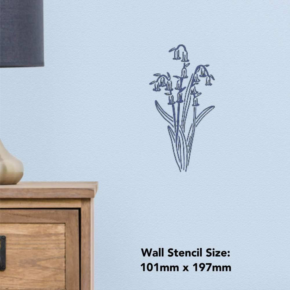 10124XS Size Extra Small A5 The Stencil Studio Woodland Bluebells Reusable Stencil