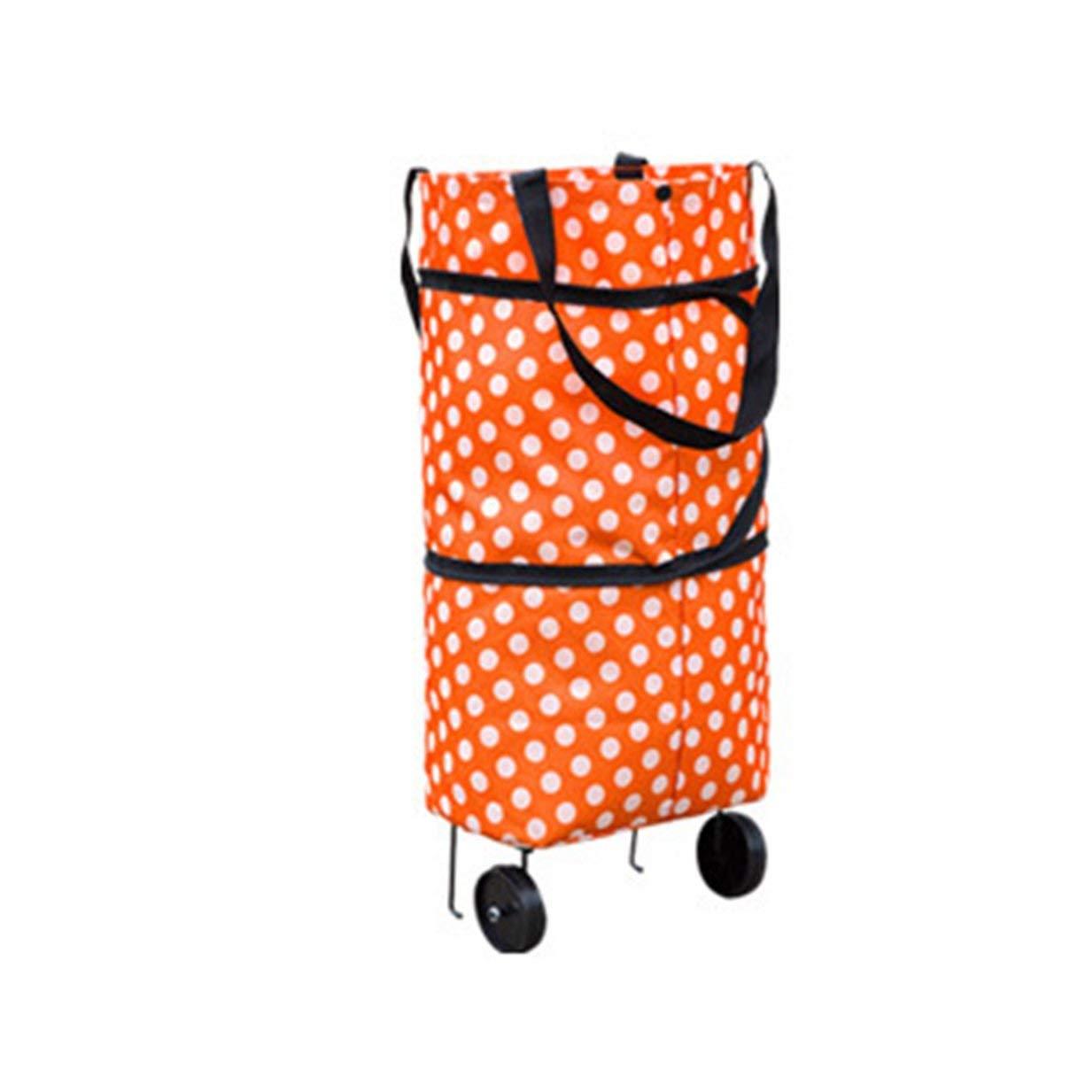 Shopping Trolley Wheel Bag,Fashionable Design Large Capacity Waterproof Oxford Cloth Foldable Shopping Trolley Wheel Bag Traval Cart Luggage Bag