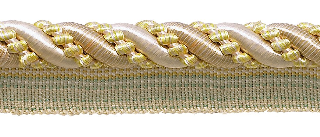 DÉCOPRO 27 Yard Roll Large Ivory, Yellow Gold 7/16 inch Imperial II Lip Cord Style# 0716I2 Color: Winter Sun - 4874 (25 Meters / 81 Ft.) by DÉCOPRO