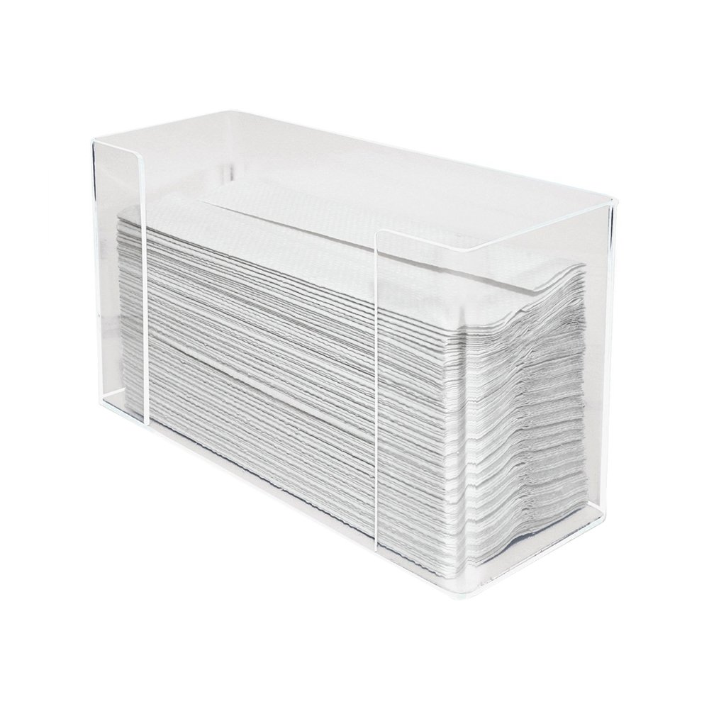 Universal Business Wall Mounted Paper Towel Dispenser Clear Acrylic 10.5x6.75x4.2 Inches