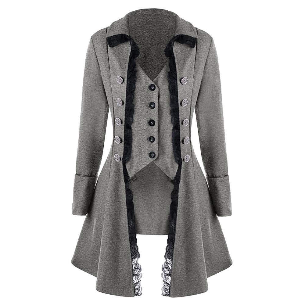 JiaMeng Abrigo Chaqueta de Chaqueta gó tica Frock Coat Uniforme Traje Praty Outwear Bombardero Chaquetas y Abrigos Talla Extra