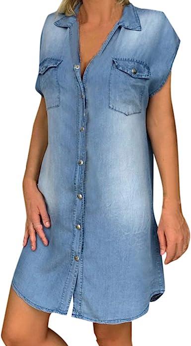 denim shirt dress plus size uk