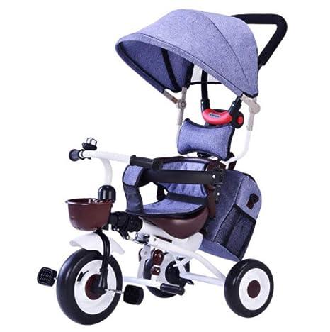 GFGF Cochecito de bebé Plegable Triciclo de Bicicleta para niños de 1-3-5