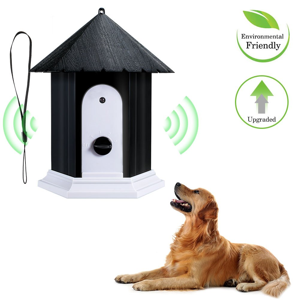 Openuye Anti Barking Device, 100% Harmless Ultrasonic Bark Control and Waterproof Stop Dog Barking Device Indoor Outdoor, Hidden Anti-Barking Device by Openuye