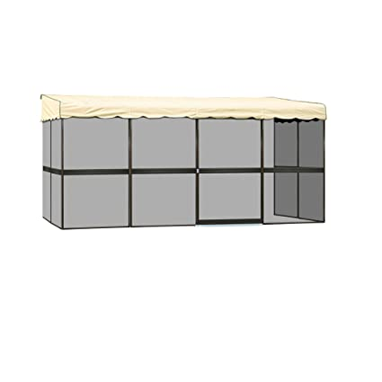Brilliant Patio Mate 8 Panel Screen Enclosure 89365 Brown With Almond Roof Interior Design Ideas Clesiryabchikinfo